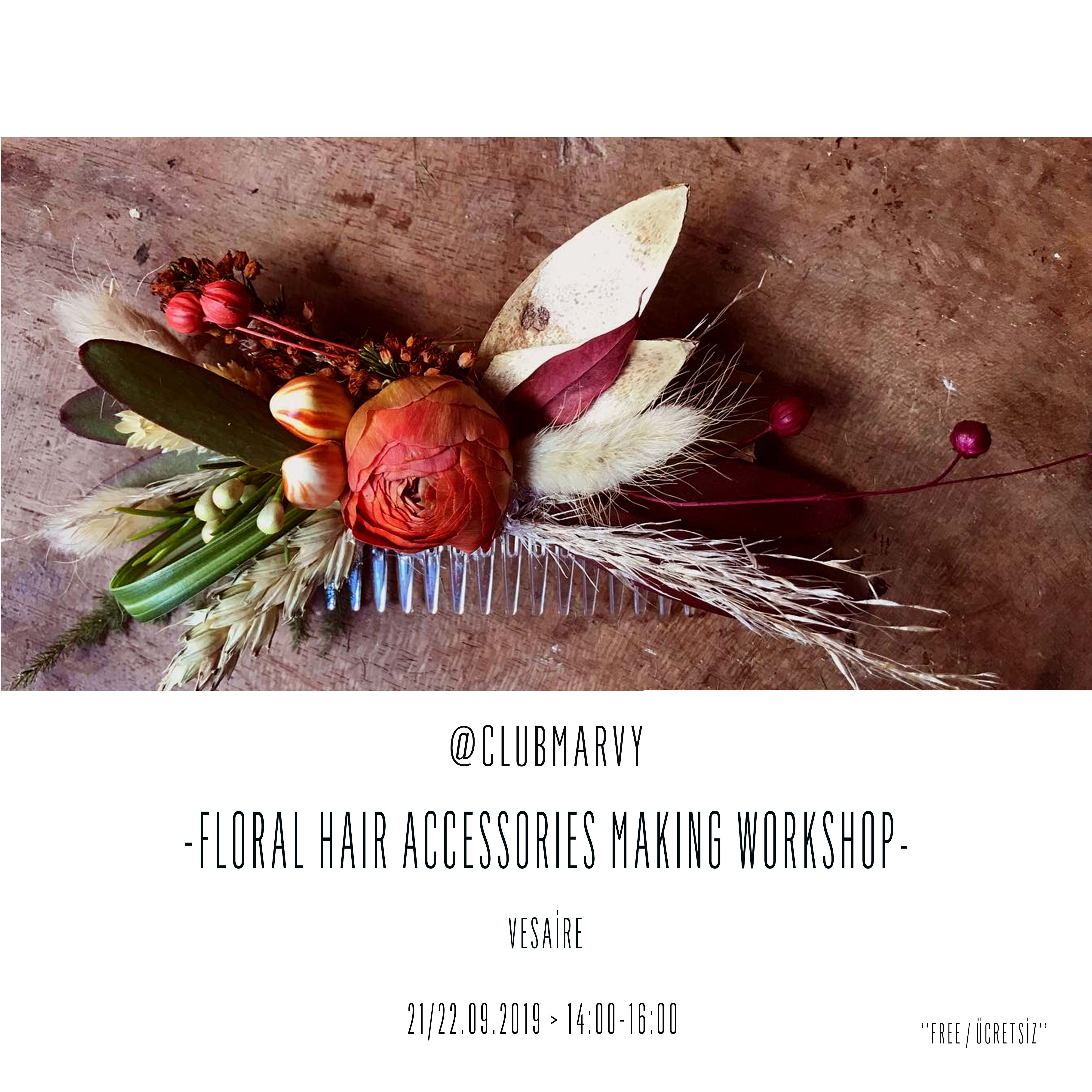 Floral Hair Accessories Making Workshop