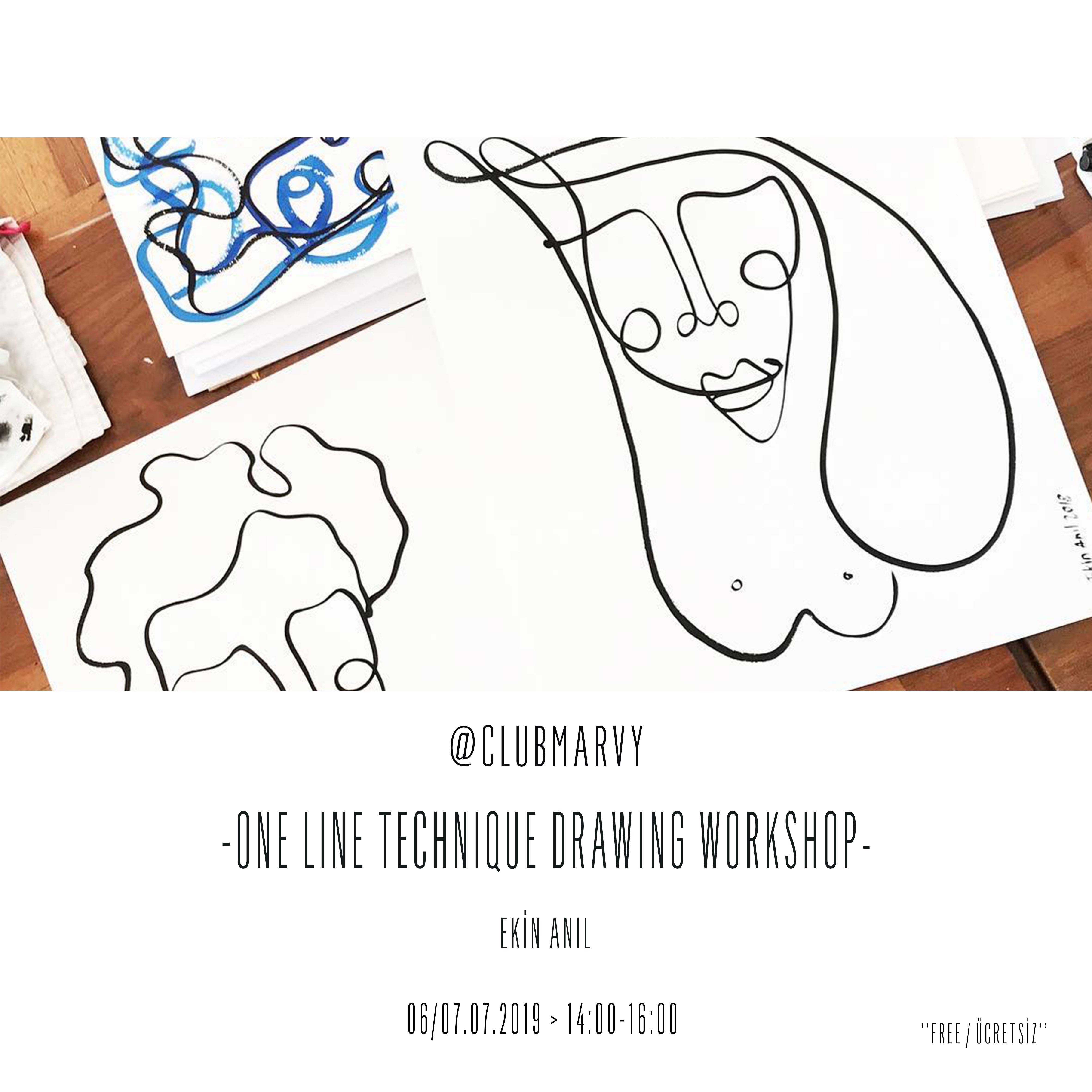 One Line Technique Drawing Workshop