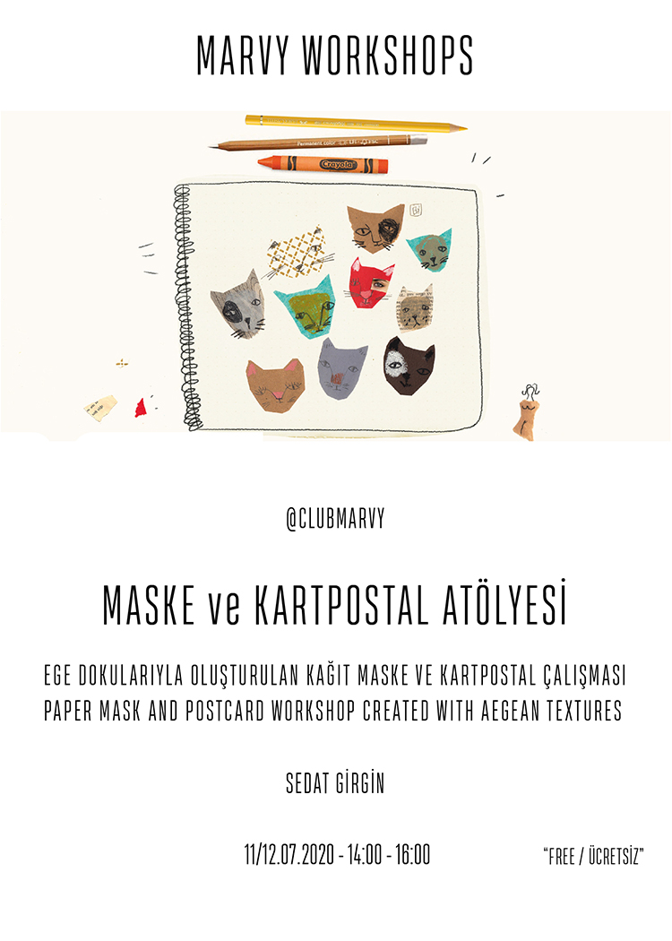 PAPER MASK AND POSTCARD WORKSHOP CREATED WITH AEGE